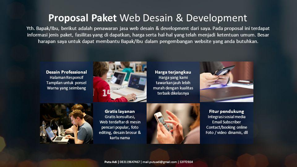 Proposal Paket Web Desain & Development