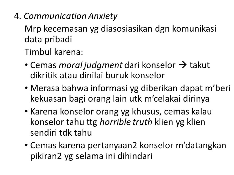 4. Communication Anxiety