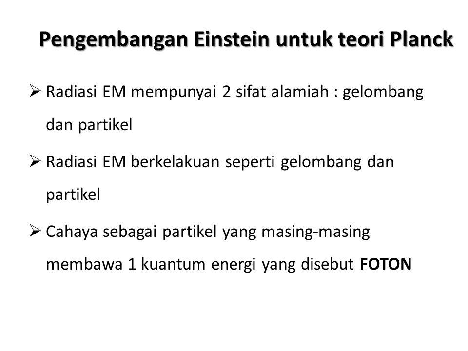Pengembangan Einstein untuk teori Planck