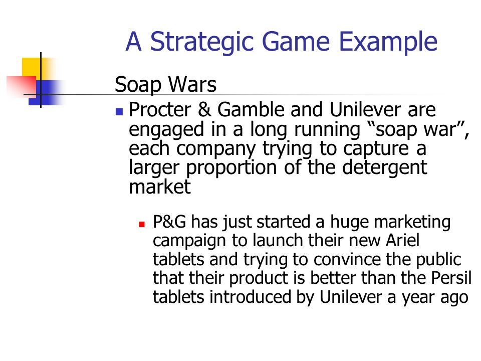 A Strategic Game Example
