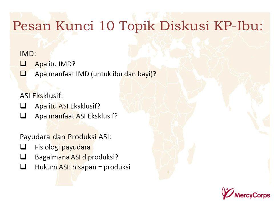 Pesan Kunci 10 Topik Diskusi KP-Ibu: