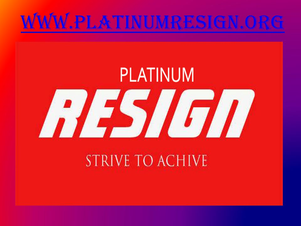 www.platinumresign.org