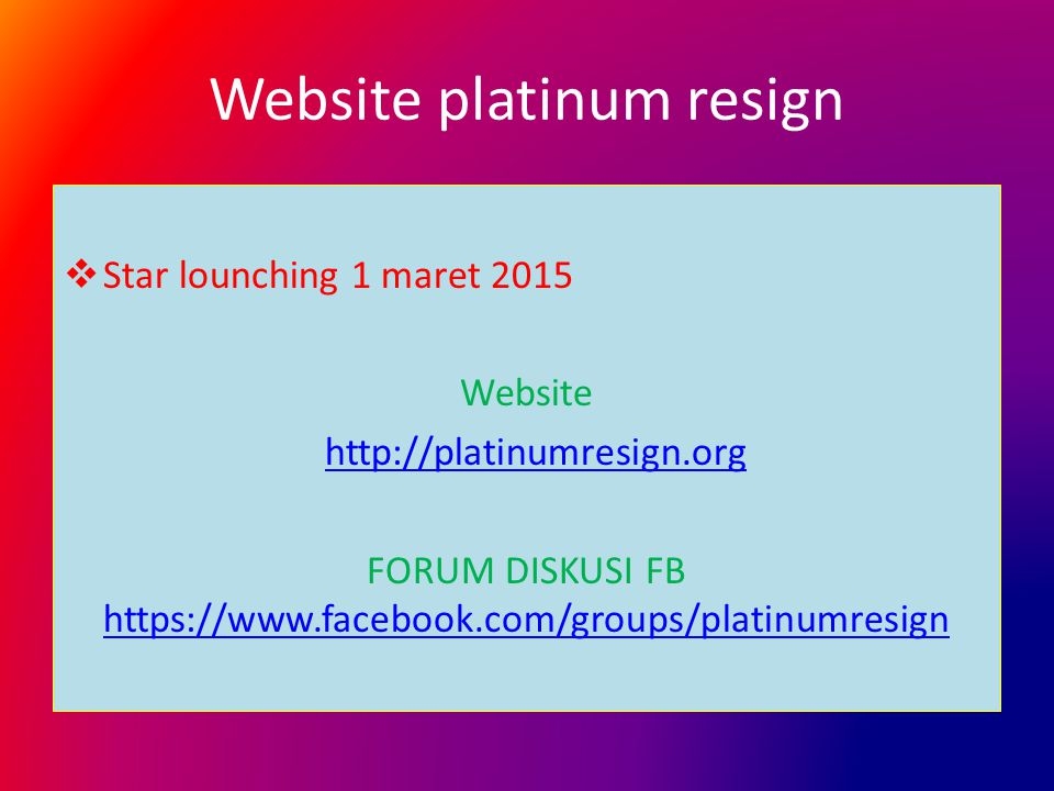 Website platinum resign