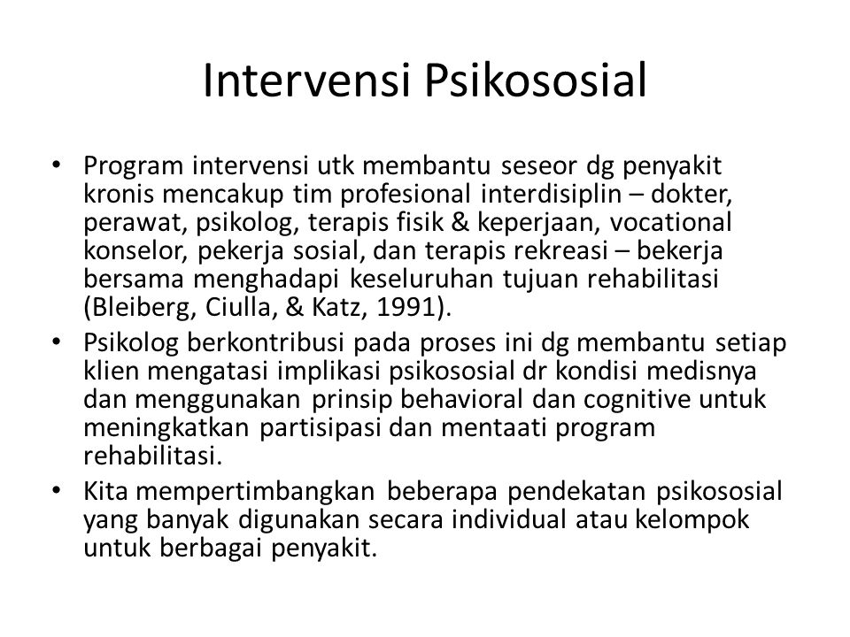 Intervensi Psikososial
