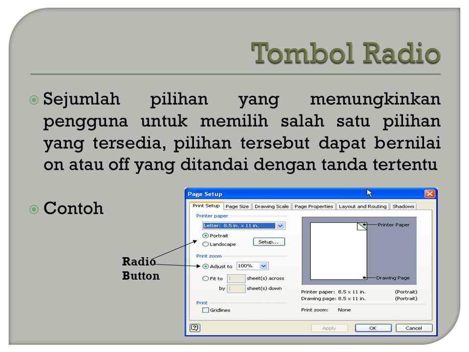 Tombol Radio