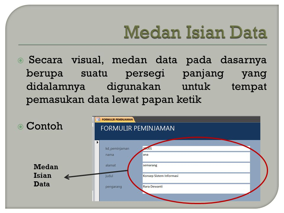 Medan Isian Data