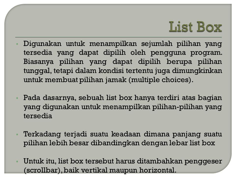 List Box