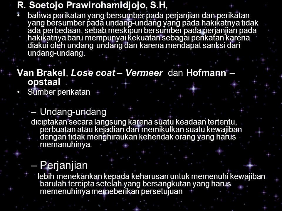 Perjanjian R. Soetojo Prawirohamidjojo, S.H,