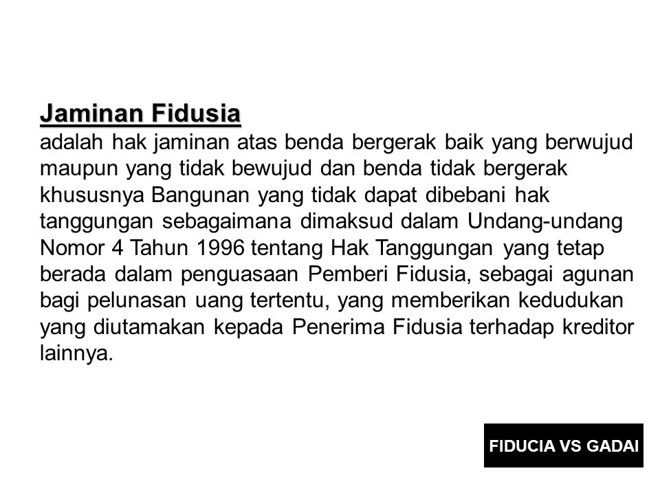 Jaminan Fidusia