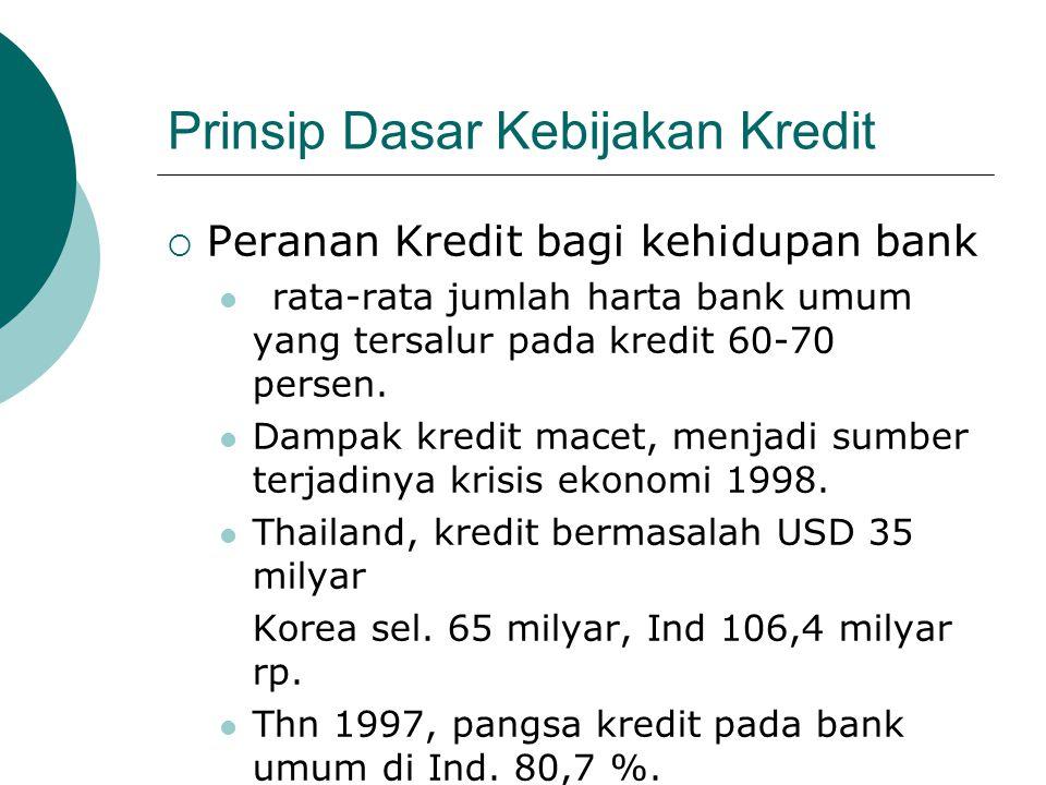 Prinsip Dasar Kebijakan Kredit