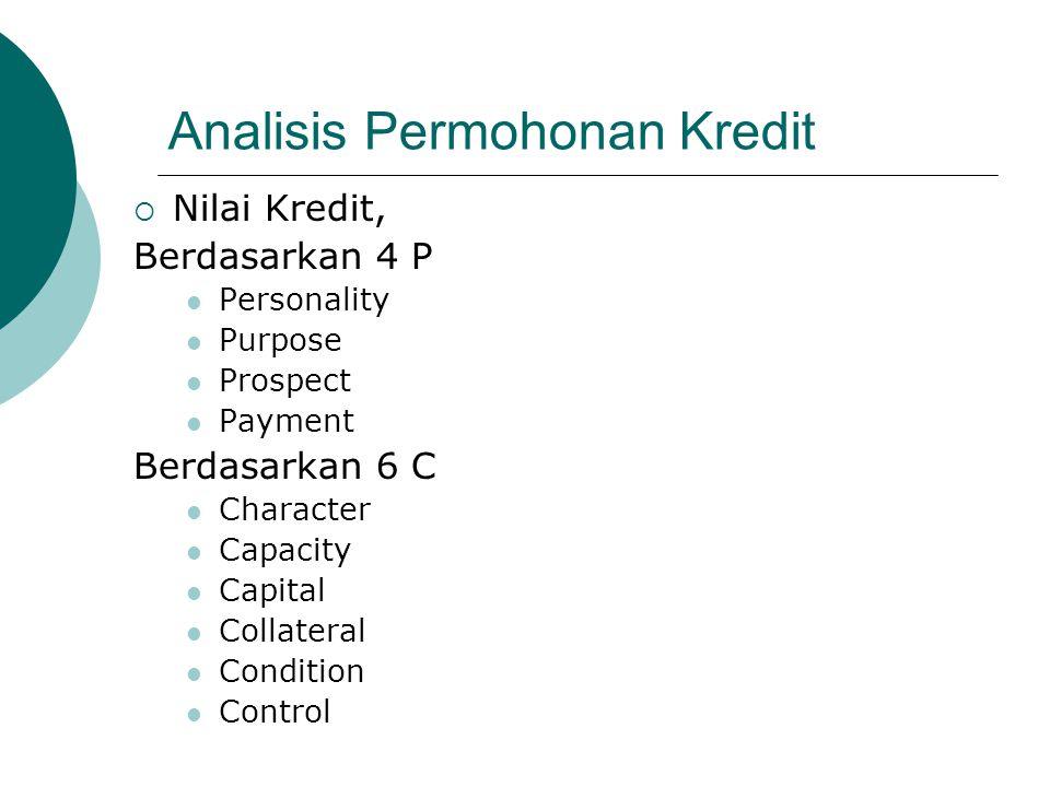 Analisis Permohonan Kredit