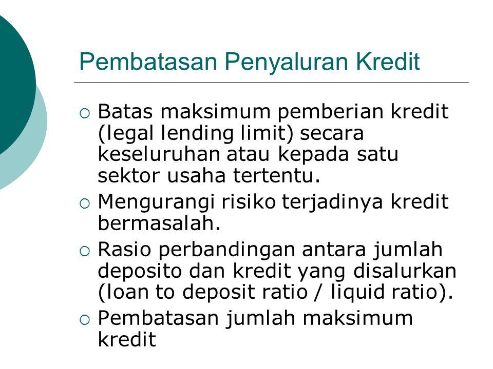 Pembatasan Penyaluran Kredit