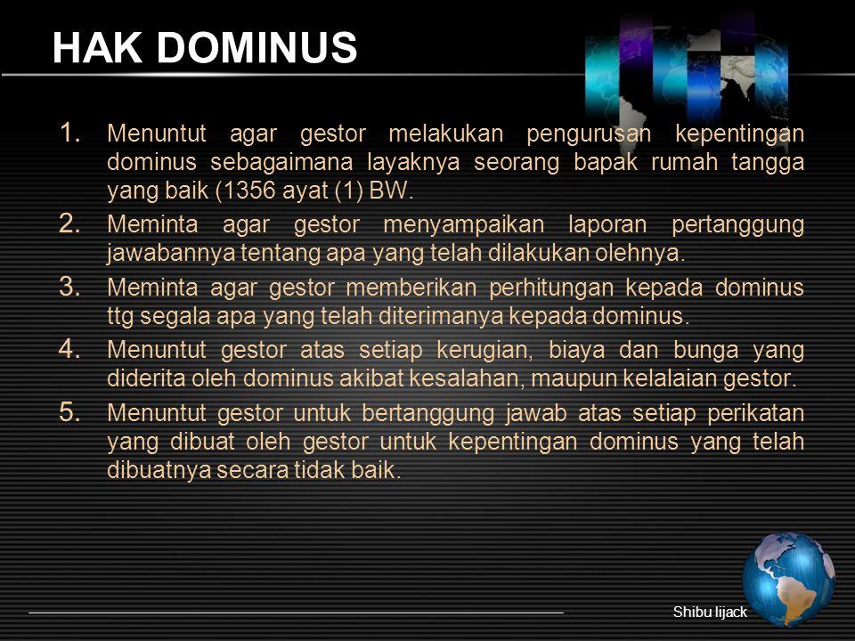 HAK DOMINUS