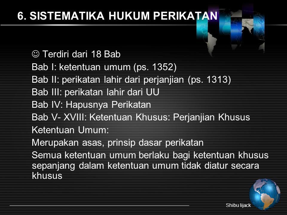 6. SISTEMATIKA HUKUM PERIKATAN
