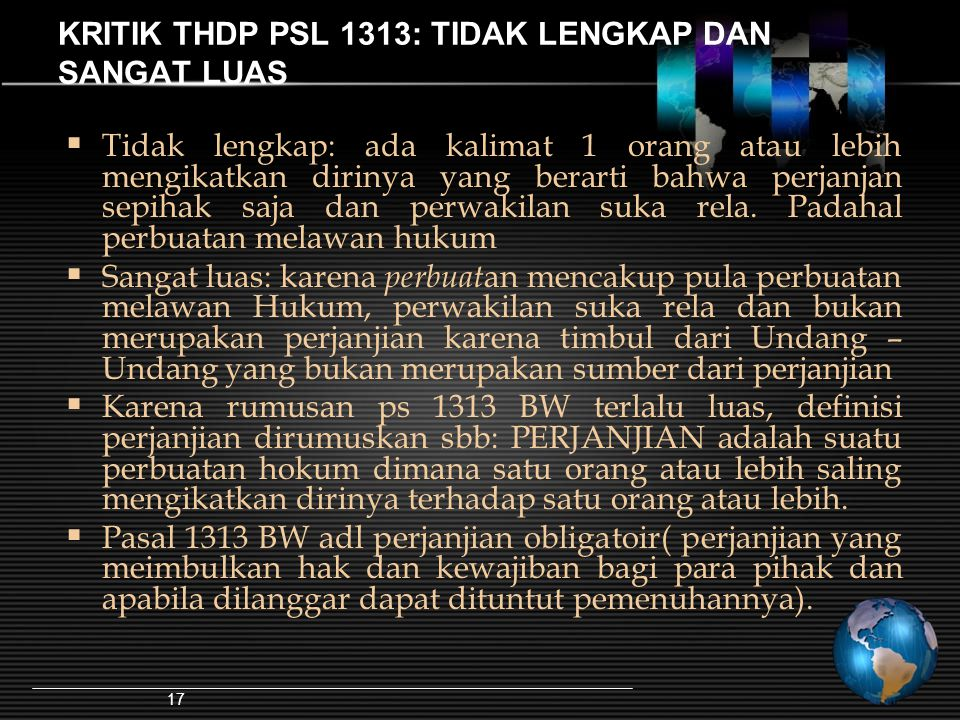 KRITIK THDP PSL 1313: TIDAK LENGKAP DAN SANGAT LUAS