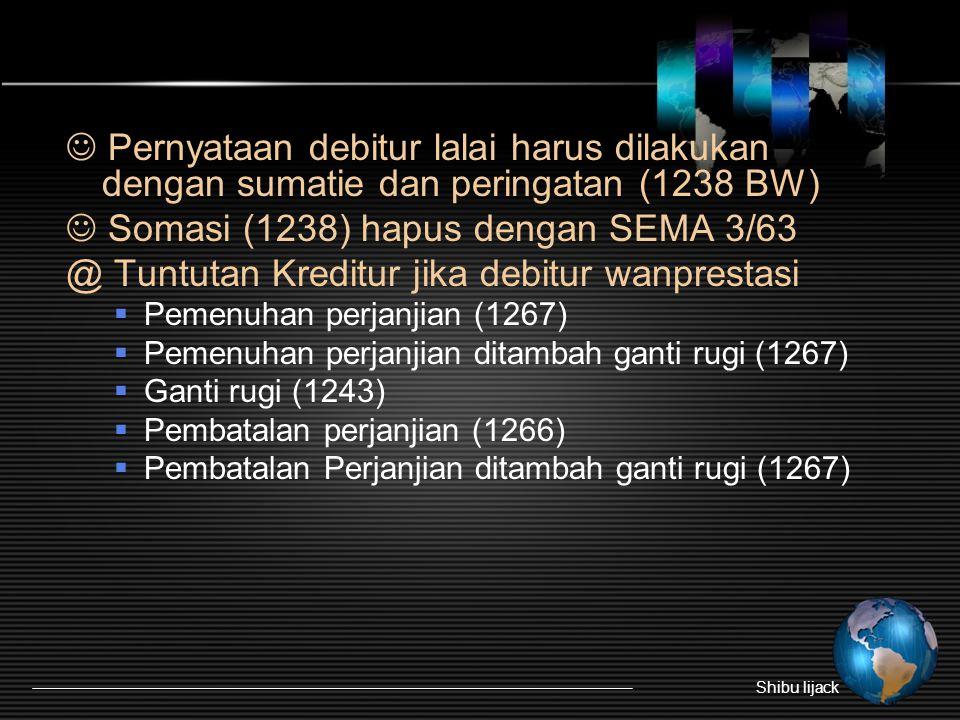  Somasi (1238) hapus dengan SEMA 3/63