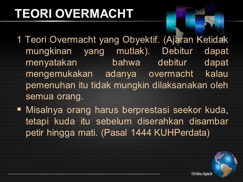 TEORI OVERMACHT