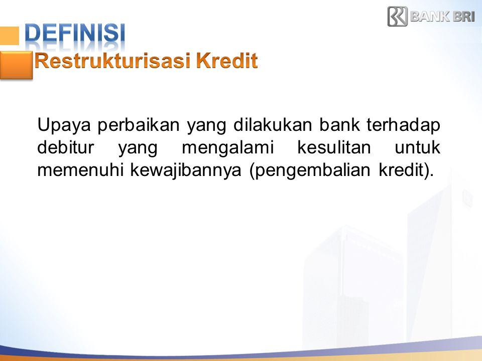 DEFINISI Restrukturisasi Kredit