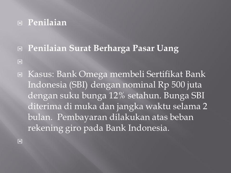 Penilaian Penilaian Surat Berharga Pasar Uang.
