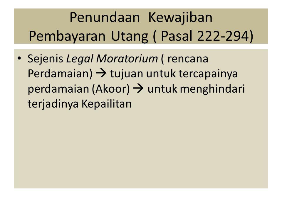 Penundaan Kewajiban Pembayaran Utang ( Pasal 222-294)
