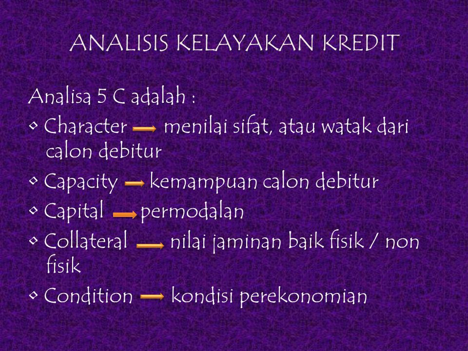 ANALISIS KELAYAKAN KREDIT