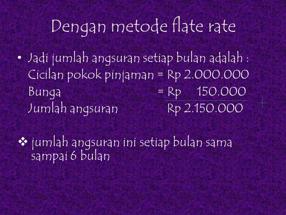 Dengan metode flate rate