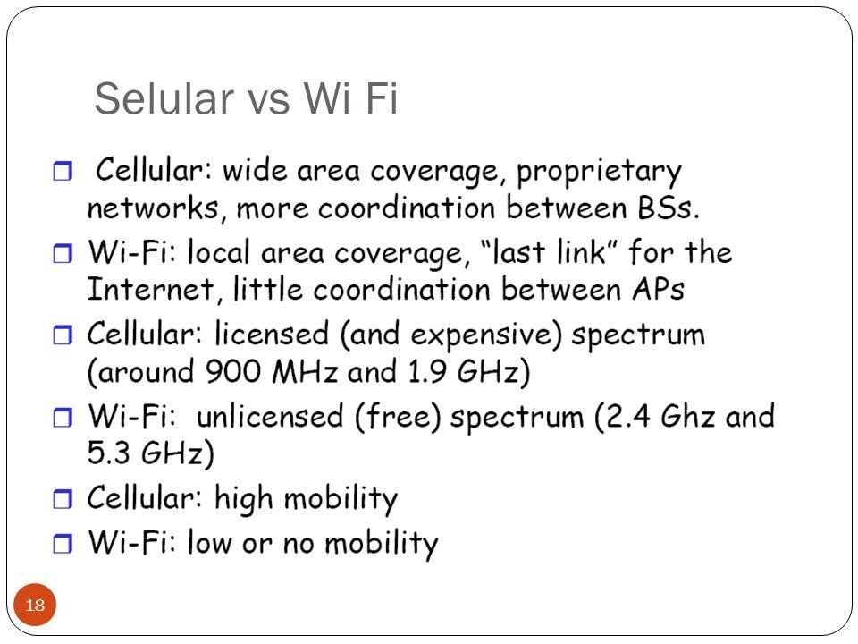 Selular vs Wi Fi