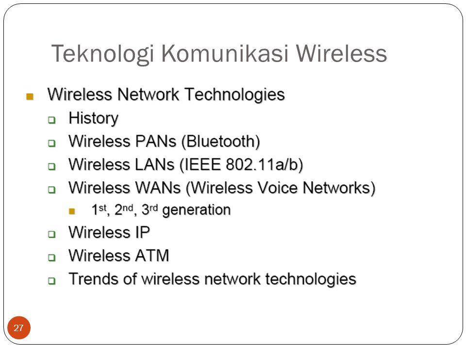 Teknologi Komunikasi Wireless