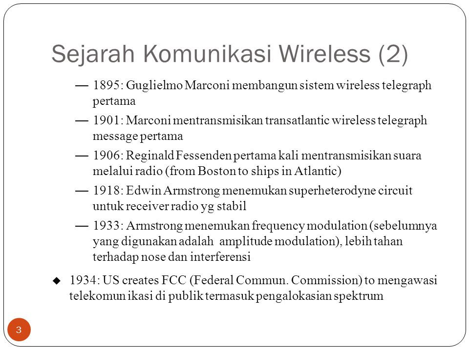 Sejarah Komunikasi Wireless (2)