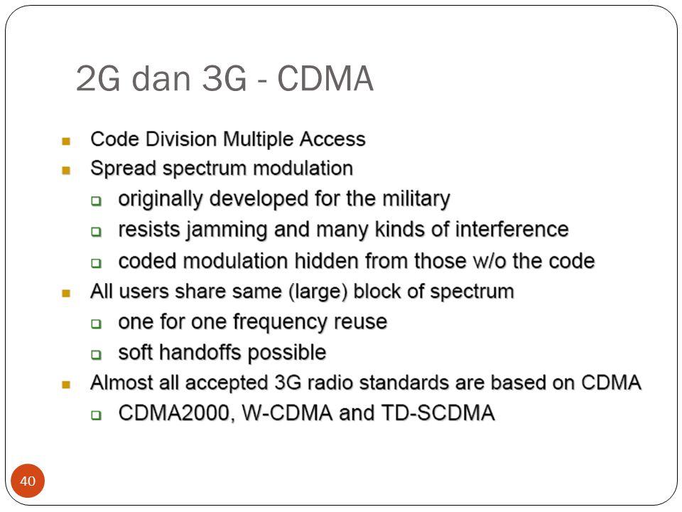 2G dan 3G - CDMA
