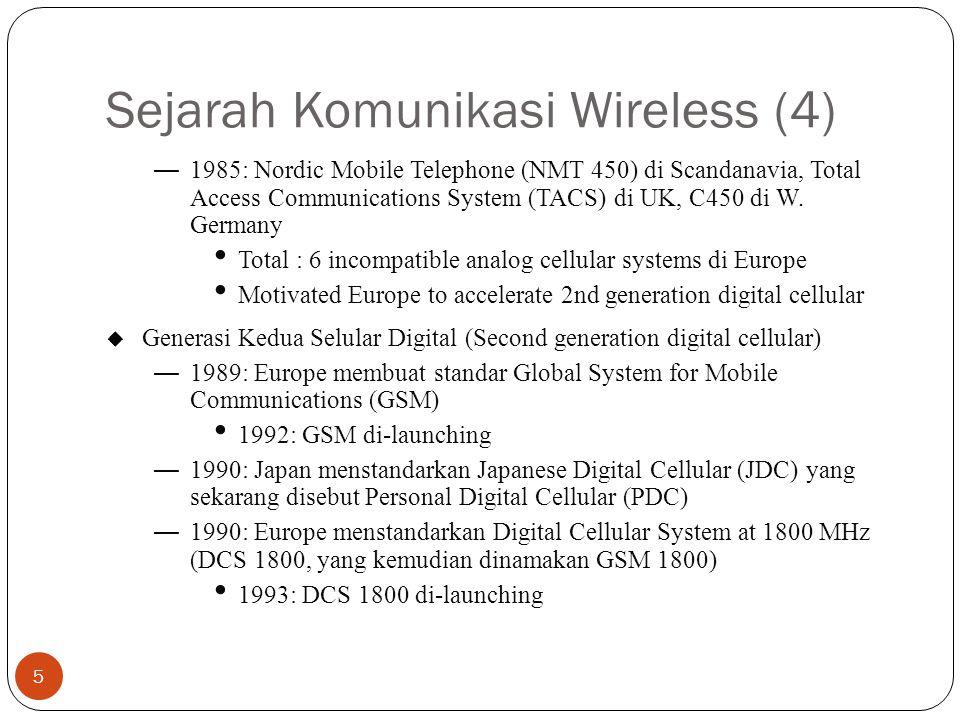 Sejarah Komunikasi Wireless (4)