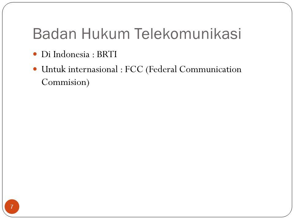 Badan Hukum Telekomunikasi