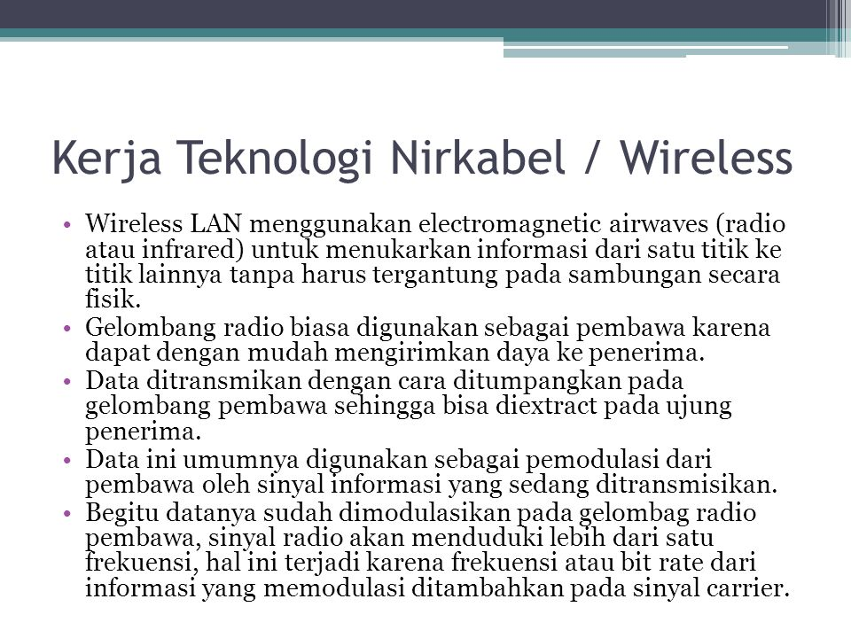Kerja Teknologi Nirkabel / Wireless