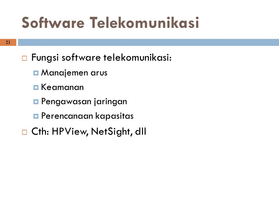 Software Telekomunikasi