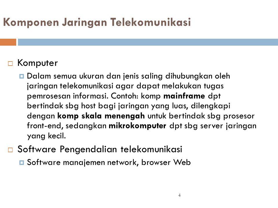 Komponen Jaringan Telekomunikasi