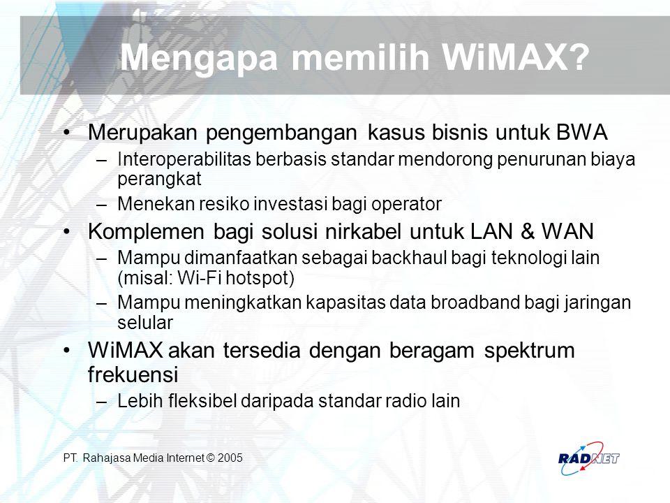 Mengapa memilih WiMAX Merupakan pengembangan kasus bisnis untuk BWA