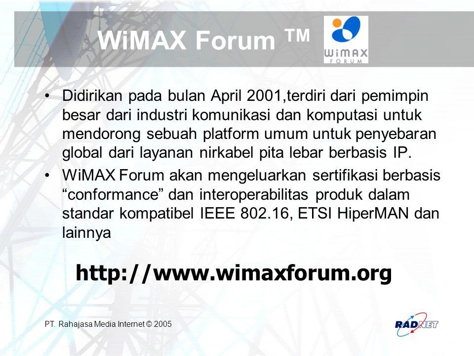 WiMAX Forum TM http://www.wimaxforum.org