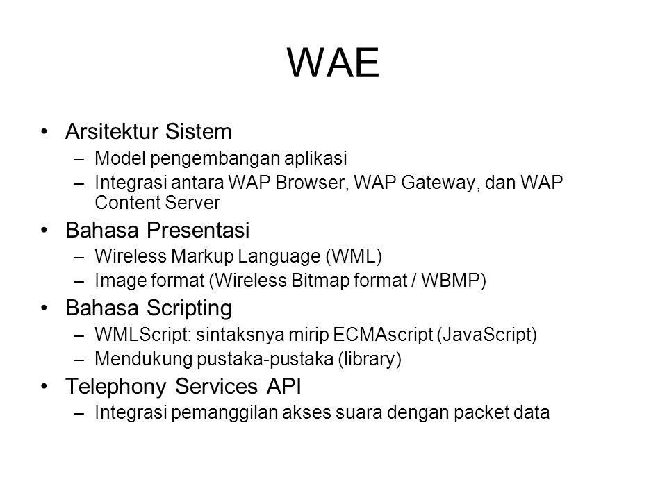 WAE Arsitektur Sistem Bahasa Presentasi Bahasa Scripting