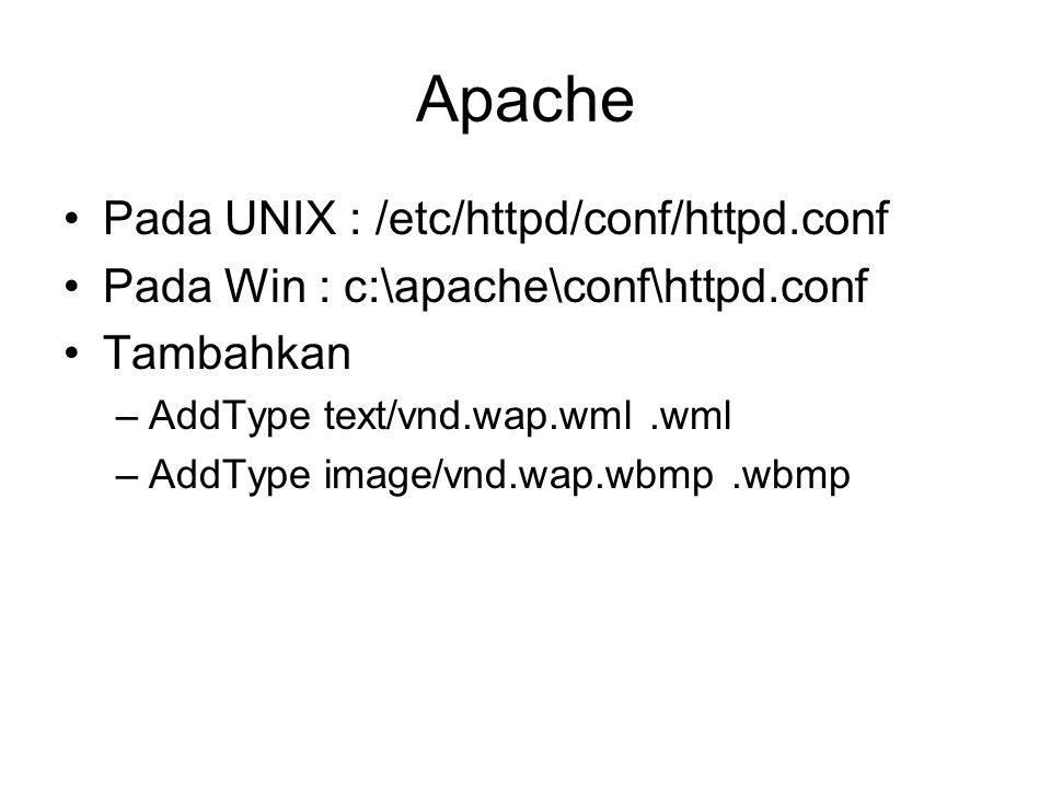Apache Pada UNIX : /etc/httpd/conf/httpd.conf