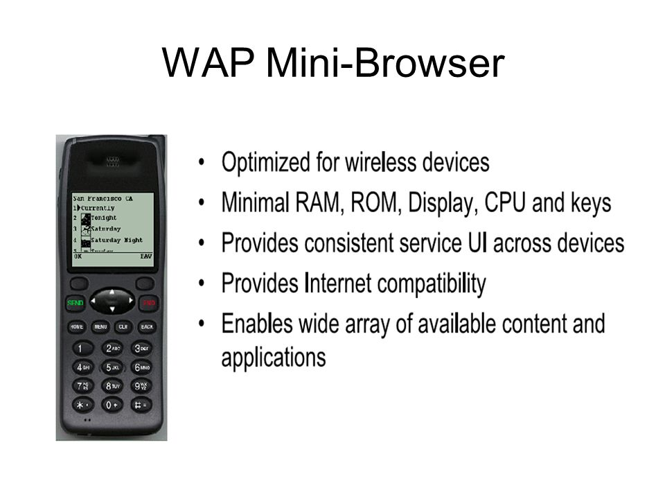 WAP Mini-Browser