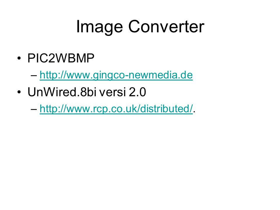 Image Converter PIC2WBMP UnWired.8bi versi 2.0