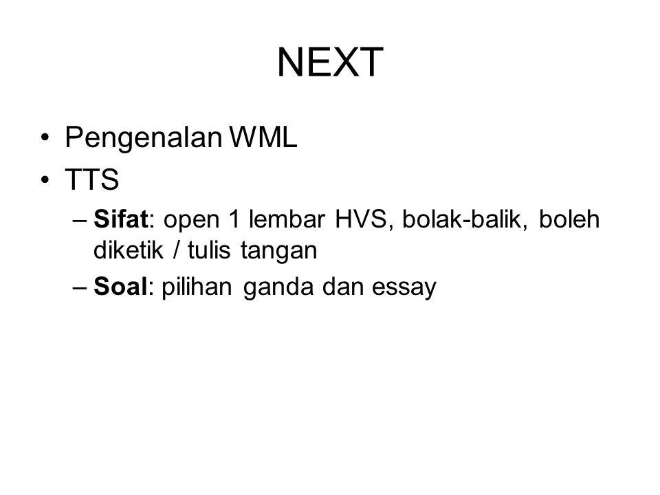 NEXT Pengenalan WML TTS