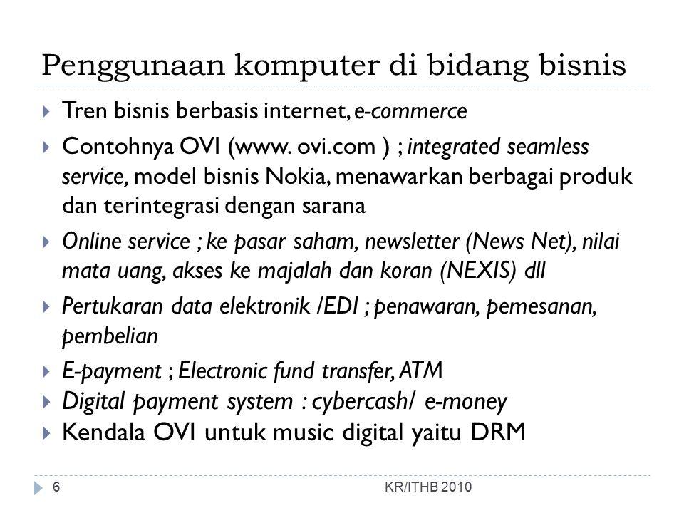 Penggunaan komputer di bidang bisnis