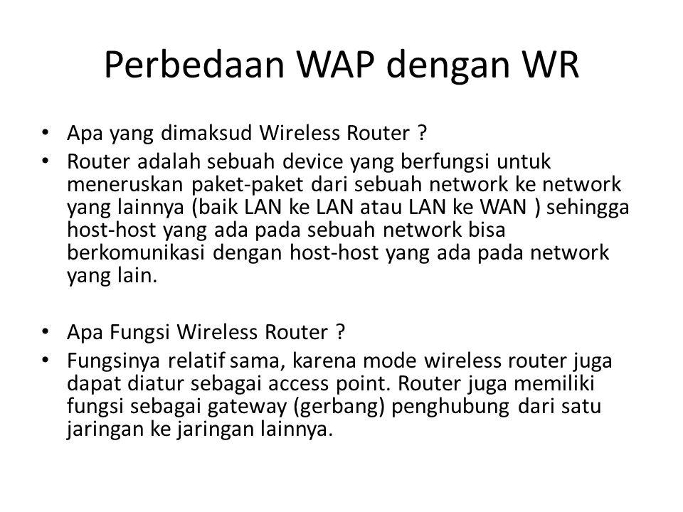 Perbedaan WAP dengan WR