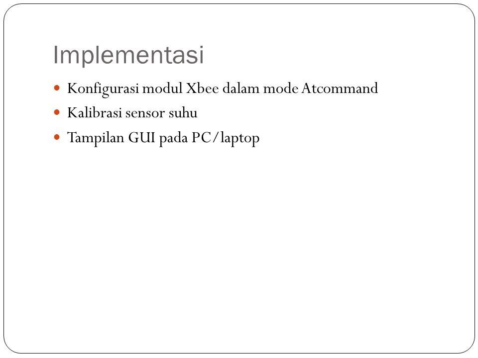 Implementasi Konfigurasi modul Xbee dalam mode Atcommand
