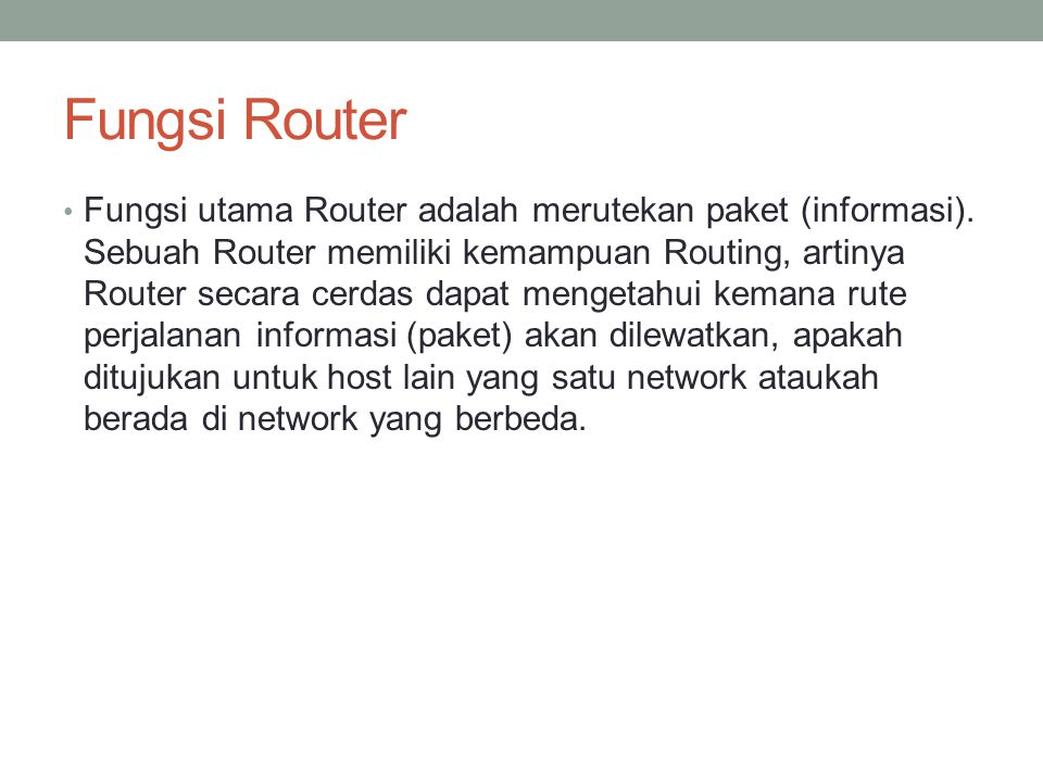 Fungsi Router