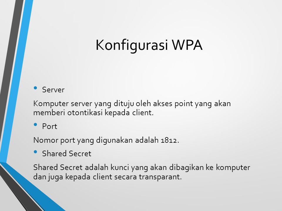 Konfigurasi WPA Server