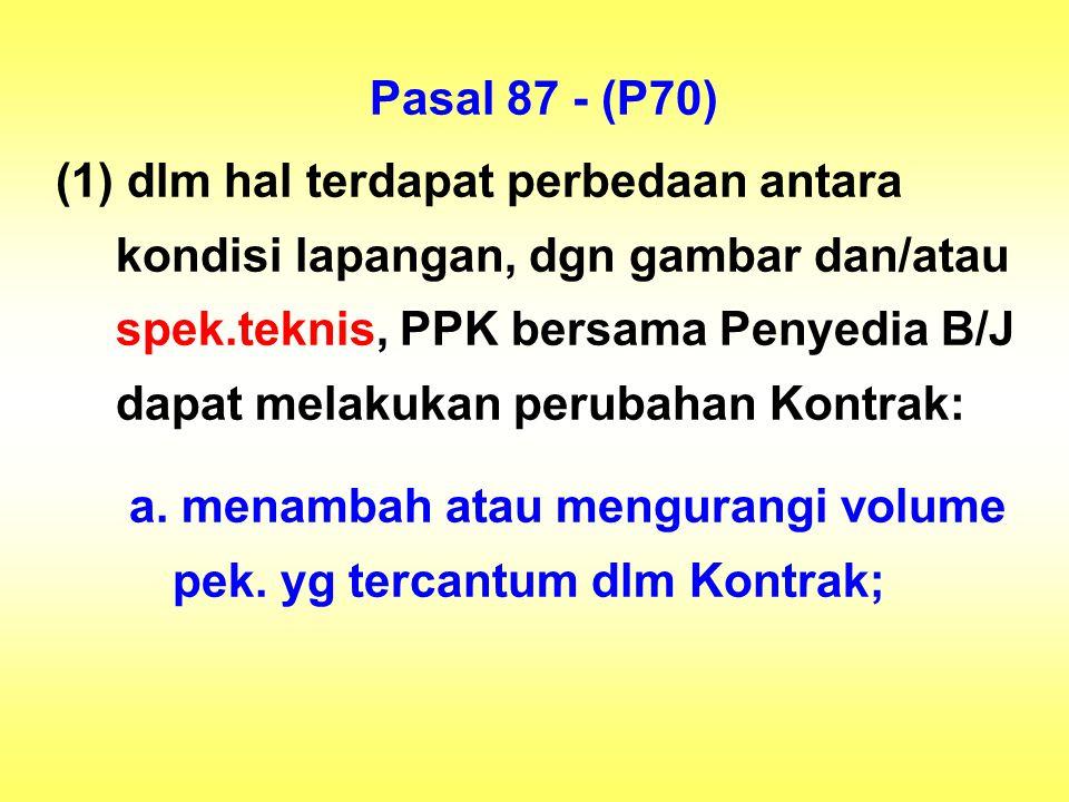 Pasal 87 - (P70)