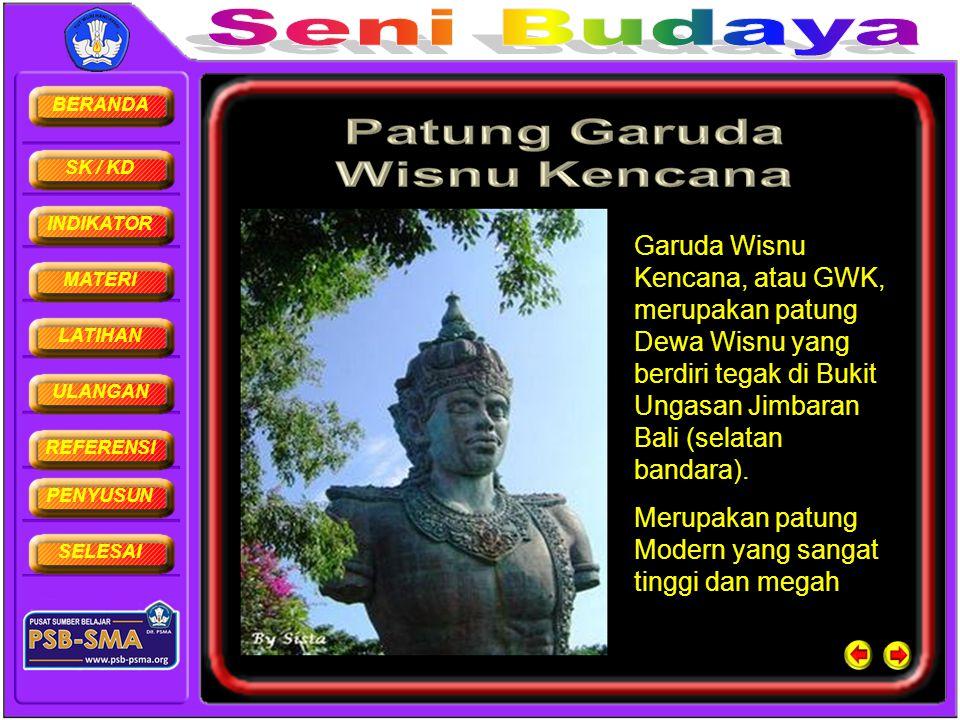 Garuda Wisnu Kencana, atau GWK, merupakan patung Dewa Wisnu yang berdiri tegak di Bukit Ungasan Jimbaran Bali (selatan bandara).