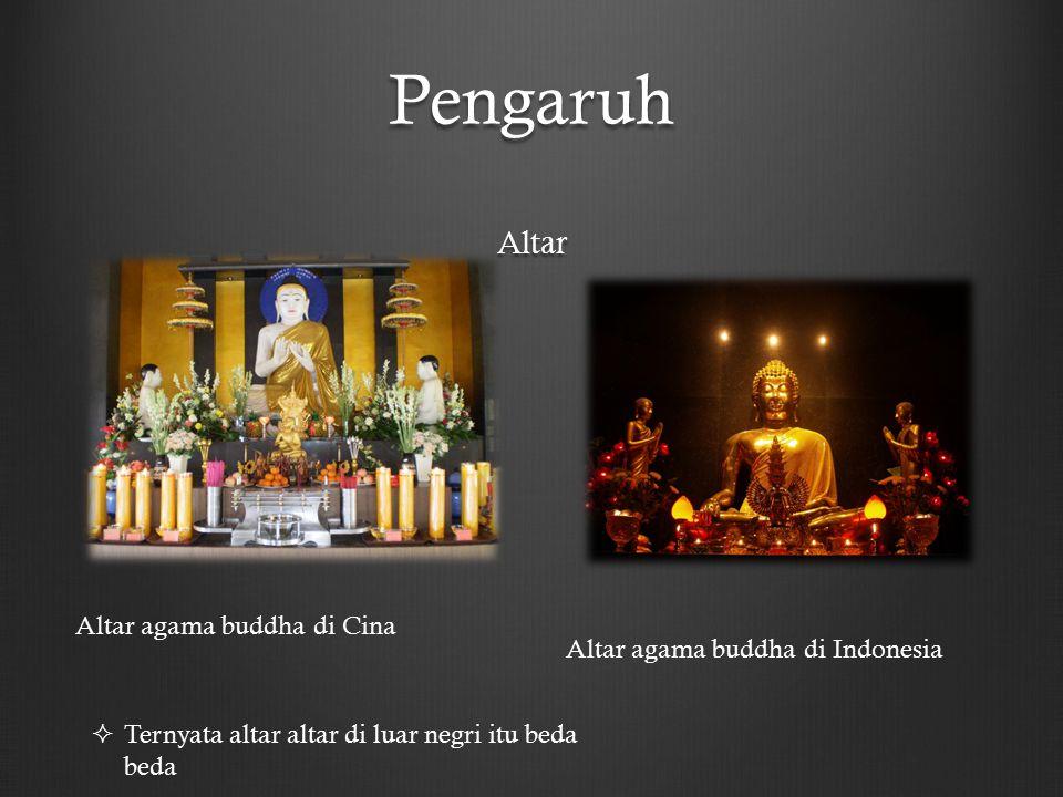 Pengaruh Altar Altar agama buddha di Cina